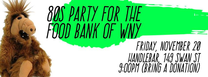 Tonight 80s Party For The Food Bank Buffablog